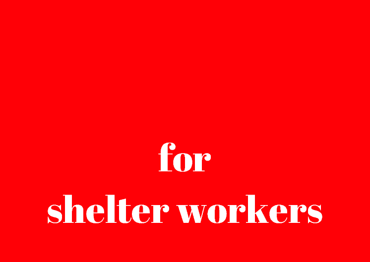 for shelter workers